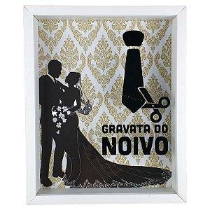 Quadro Cofre para Decoração de Parede Gravata do Noivo 20x25 - Art