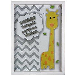 Quadro Porta Recado Mensagens de Recordação Maternidade Recém Nascido Girafa