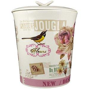 Lixeira para Banheiro em Porcelana Chocolat Lombart Paris 1 peça - Amigold