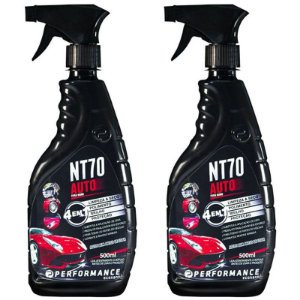 Kit 2 NT70 PUMP Auto Multi Polidor Cera de Veículos 500ml - Performance Eco