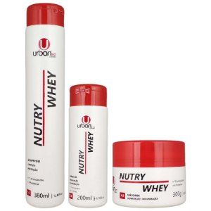 Kit Nutry Whey Home Care Shampoo Leave In Máscara Capilar Trata e Sela as Cutículas - Urban Eco