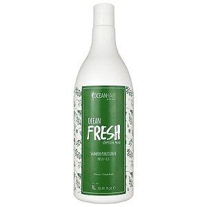 Shampoo Purificante Ocean Fresh Detox Ação 5x1 Para Cabelos Oleosos 1 Litro - Oceanhair