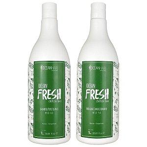 Kit Shampoo Purificante e Máscara Condicionadora Ocean Fresh Detox Ação 5x1 2x1 Litro - Oceanhair