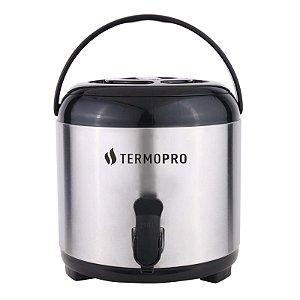 Botijão Térmico Aço Inox Pressão Com Tripé Dobrável 6 Litros - Termopro