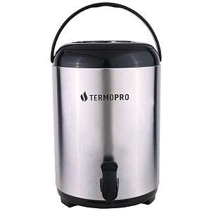 Botijão Térmico Aço Inox Pressão Com Tripé Dobrável  10 Litros - Termopro