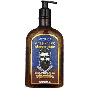 Gel de Barbear Shaving Valentins Barber Shop Facilita do Deslizamento da Lâmina 500ml - Vitaflayne
