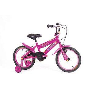 Bicicleta Infantil Bike Cross Aro 16 Com Rodinhas Feminina - Unitoys