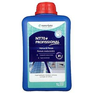 NT70 Profissional Vidros e Metais Impermeabilizante Multipolidor e Protetor 1 Litro