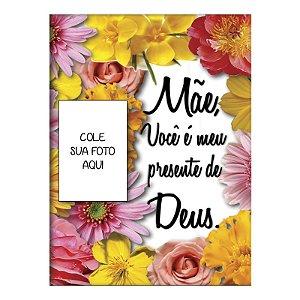 Quadro Decorativo Porta Foto Mãe Você é meu presente de Deus