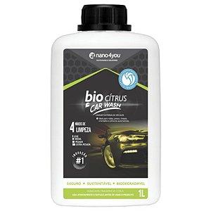 Shampoo Desengraxante Multilimpador Biodegradável Citrus Car Wash 1Litro NT Auto