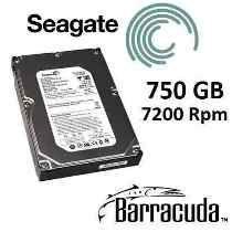 HD SATA II 750GB SEAGATE BARRACUDA - 7200 RPM