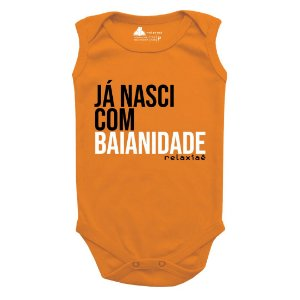 Body de Bebê Regata Já Nasci com Baianidade