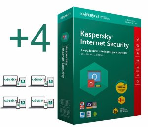 Kaspersky Internet Security 2019 licença para 04 PC's (dispositivos) por 1 ano - versão download