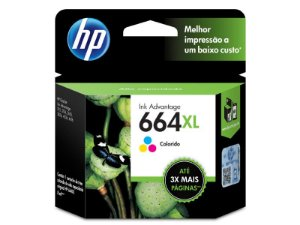 CARTUCHO DE TINTA HP 664XL TRICOLOR 8,0 ML
