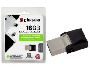 PEN DRIVE SMARTPHONE KINGSTON 16GB USB E MICRO USB 3.0 OTG