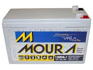 Bateria para Nobreak MOURA 12V 7AH  ESTACIONARIA SELADA 12MVA-7