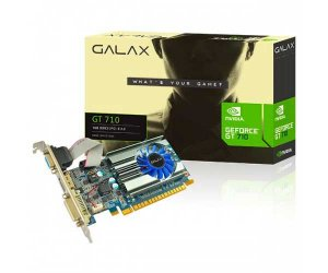 Placa de Video GT 710 1GB DDR3 DVI HDMI VGA NVIDIA Galax