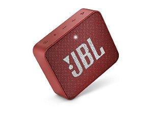 Caixa Bluetooth JBL GO2 Red, À prova d'água, Bluetooth, S/Fio, Viva voz, Recarregável, Autonomia para 5hs