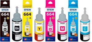 Kit Tintas Epson 664 Black Yellow Magenta Ciano