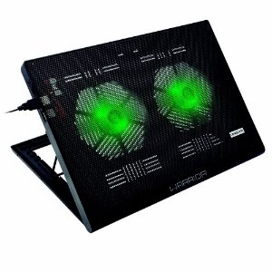 Base Cooler Gamer Led Verde Multilaser- Ac267