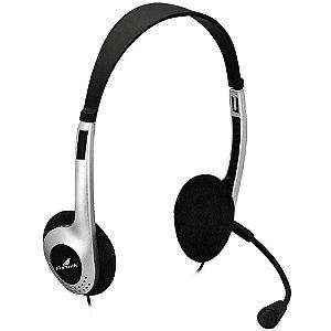 Headset Fortrek Multimídia HBL-101 Preto/Prata