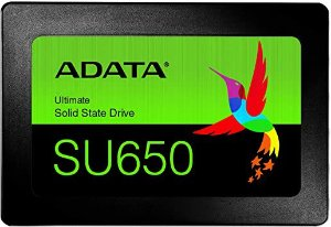 SSD 240GB ADATA SATA  3D NAND Leitura 520MB/s, Gravação 450MB/s  ASU650SS-240GT-R