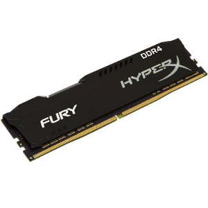 MEMÓRIA KINGSTON HYPERX FURY 16GB 2666MHZ DDR4 BLACK