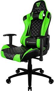 Cadeira Gamer Profissional TGC12 Preta/Verde ThunderX3 Classe 4