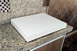 Tampa para cooktop 4 bocas - Branca - 63x50cm