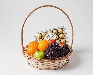 Cesta de Frutas grande e Chocolate