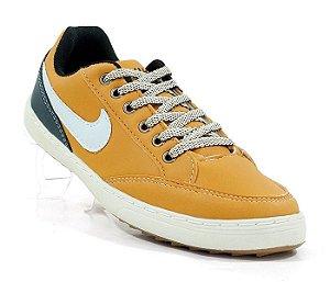 Sapatênis Nike court marrom e bege