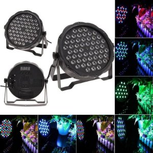 Refletor Slim Led 64 Rgbw 54 Leds De 3w Dmx Digital