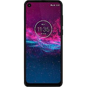"Smartphone Motorola One Action 128GB Azul 4G - 4GB RAM 6,34"" Câm. Tripla + Câm. Selfie 12MP"