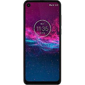 "Smartphone Motorola One Action 128GB Branco 4G - 4GB RAM 6,34"" Câm. Tripla + Câm. Selfie 12MP"
