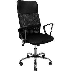 Cadeira Presidente Mesh Giratoria Preta - Mymax