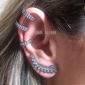 Piercing Fake Duplo -  Ródio Negro - 1PÇ