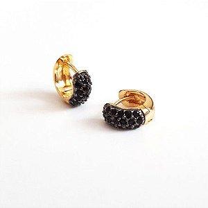 Mini Argolinhas Ouro - Black