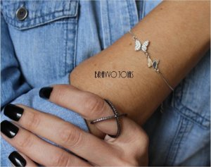 Pulseira Butterfly  -  Prata