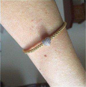 Bracelete Coração - Ouro