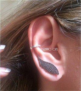 Brinco Ear Cuff Wings - Prata