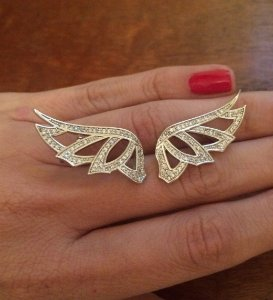 Brinco Ear Cuff  Wings - Ródio