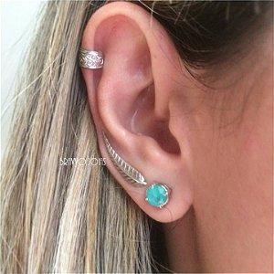 Brinco  Pena - Prata - Ear Cuff