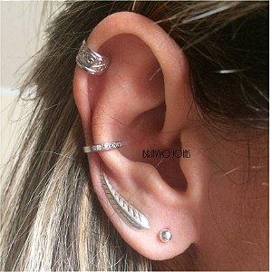 Brinco Leaf - Prata - Ear Cuff