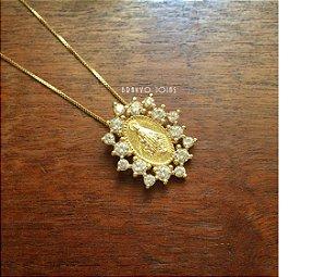 Colar Medalha Milagrosa  - Semi Jóia Ouro