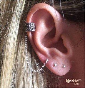Piercing Falso Gatinha - Prata - 1PÇ