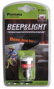 Beep & Light Lâmpada de Ré c/ Alarme Sonoro Acoplado 12V EXCLUSIVO