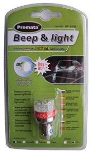 Beep & Light Lâmpada de Ré c/ Alarme Sonoro Acoplado 24V EXCLUSIVO