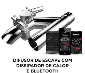 "Difusor para Escapamento 2,5"" c/ aplicativo"