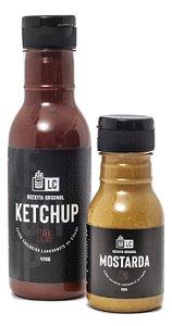 Ketchup LC-II Rústico 470g  e Mostarda LC 200g Lanchonete da Cidade