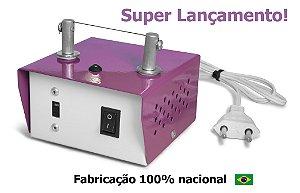 Máquina de Cortar Fita Fuxico Haste Baixa + Refil de Brinde